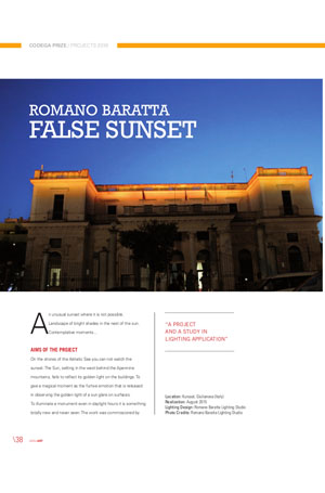 LEDinArt international - Romano Baratta. False Sunset