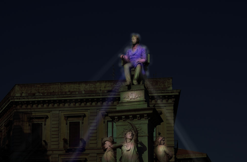 No Grayness. Statues's Light. | lighting design